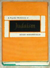 A POPULAR DICTIONARY OF JUDAISM ~ HIGH SCHONFIELD ~ VINTAGE 1962 ED 1st PRINT HC