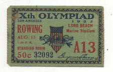 Orig.Ticket  Olympische Spiele LOS ANGELES 1932 - RUDERN 13.08. - alle FINAL`S !