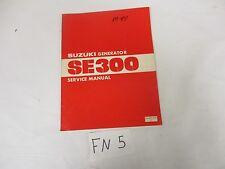 Suzuki Generator 1981 SE300 Service Manual SR-4001-E-03