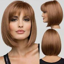 Medium Natural Straight Bob Human Hair Full Lace Wigs / Lace front wig