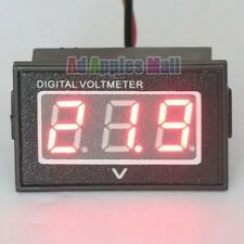 DC 2.5-30V Rot Color Wasserdicht LED Digital Voltmeter Spannungsanzeige