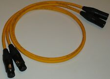 VAN DEN HUL M.C.D102 MKIII HYBRID 100CM XLR MALE   FEMALE  INTERCONNECTS (X 2)