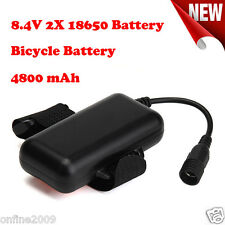 8.4V Rechargeable 4800mAh 2X18650 Battery Pack For Bicycle Light Torch Headlamp