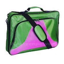 "18"" 18.4"" Inch Green Pink Laptop Notebook Carrying Messenger Bag Case Briefcase"