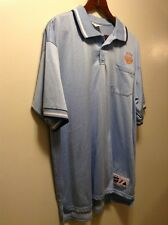 MENS Light Blue Golf Polo Shirt Sx XL Majestic PITTSBURGH Big League Sports Logo