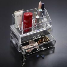 Makeup Cosmetic Organiser 2 Drawers Display Beauty Jewelry Storage Case Acrylic