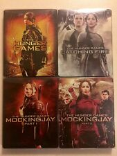 The Hunger Games Collection Steelbook Lot (Blu Ray, DVD, 6-Disc) Prestine Cond!