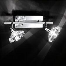 Wofi Designer tedesca Megan 2 Scarico Cromato Lampada Soffitto Parete Cristallo tonalità di vetro
