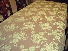 Tablecloths Rose Bouquet 52X70 Ivory Rectangle Tablecloth Oxford House NWOT