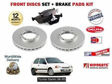 PARA TOYOTA STARLET 1.3 96-99 FRENO DELANTERO 238mm DISCOS SET+KIT PASTILLAS