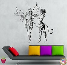 Wall Stickers Vinyl Decal Hot Sexy Girls Angel And Demon Bedroom Decor (z1934)