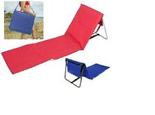 2x Portable Foldable Beach Picnic Mat Camping Deck Chair Lounger With Backrest