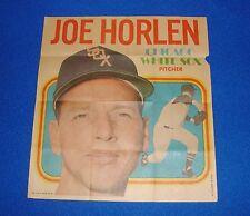 Vintage Topps Baseball Insert Poster Joe Horlen White Sox
