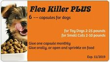 Flea Control with Flea Killer Plus for Dogs 2-24 lbs. (6 Orange Monthly Caps)