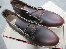 RED WING #03141 CHUKKA  BRIAR OIL SLICK LEATHER 7.5 D NEW