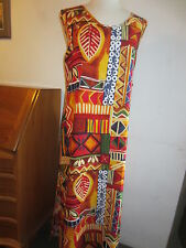 JANE ASHLEY VIBRANT PRINT LONG MAXI RAYON TANK DRESS WOMENS 3X