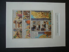 Tintin - Red Sea Sharks 1965 Edition Mounted Page Plates - individual purchase