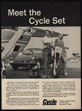 1968 BILL ASLUP - Indy 500 - Cycle Motorcycle - Pretty Woman - CESSNA VINTAGE AD