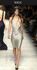 Stunning Glamorous Lanvin Silver Sequin Skirt And halter Top! 8 $5125