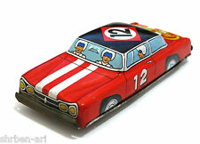 "Vintage Ichimura CHAMPION Race Car Friction Tinplat Toy Metal  Tin 5"" Japan 60's"