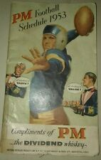 ANTIQUE COLLEGE FOOTBALL REVIEW BOOKLET OF 1952