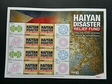 Malaysia HAIYAN Typhoon Disaster Relief Fund 2012 (personal stamp sheet) MNH