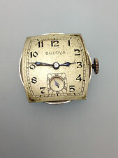 VINTAGE BULOVA WATCH CO. DIAL & 15 JEWELS WIND MOVEMENT 10BL  PARTS REPAIR AS IS