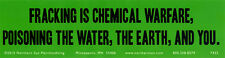 Fracking Is Chemical Warfare,.. Magnetic Bumper Sticker Magnet