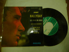 "JOHNNY HALLIDAY""LES BRAS EN CROIX-disco 45 giri EP(4 brani) PHILIPS France 1963"