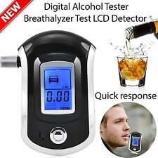 Digital police breath alcohol tester analyzer detector breathalyzer test LCD MR