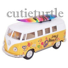 Kinsmart 1962 VW Volkswagen Classic Bus 1:32 Peace Love with Surfboard Yellow