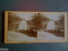 STC227 Cauterets chute d'eau cascade stereoview photo STEREO ancien vintage