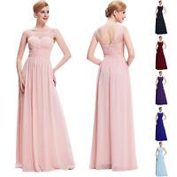 Abendkleid Lang Chiffon Ballkleid Hochzeitskleid,Brautjungfer Gr.34/36/38/42/44+