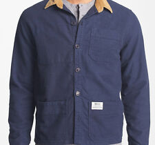 Insight Live Well Button Down Shirt (L) Black Out Blue