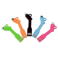 Short Key Chain USB Cable for iPhone 6 5S 5C 5 6S iPad 4 Mini Data Sync Charger