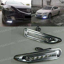 2x LED DRL Daytime Running Lights Drive Fog White For Mazda 6 2006-2009