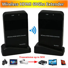 Wireless 1080P HDMI TV Video Deliver 60Ghz Transmitter&Receiver Extender System