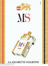 PUBLICITE ADVERTISING 066  1988  la cigarette Italienne MS