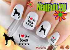 "RTG Set#167 DOG BREED ""Boxer Silhouette"" WaterSlide Decals Nail Art Transfers"
