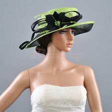 New Ladies Church Hat Wide Brim Derby Kentucky Wedding Tea Party Horse Races Hat