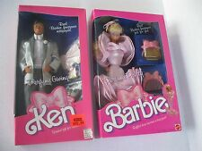1987 Perfume Pretty Barbie & Perfume Giving Ken Dolls Lot NRFB
