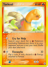 Torkoal Rare Pokemon Card EX-Legend Maker 27/92
