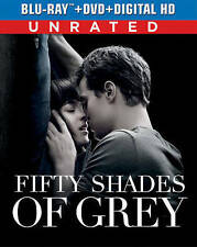 FIFTY SHADES OF GREY (BLU-RAY/DVD 2015) BRAND NEW~ 2 DISCS~ UNRATED EDITION~