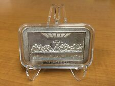 Last Supper Silver Bar (da Vinci depiction) + display holder/stand In Memoriam