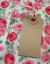 Vintage Style Gift/ Luggage Tags  - Pack of 10 Plain Tags- Wedding Crafting