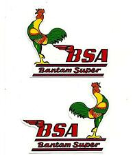 2 X BSA BANTAM SUPER Vinyl DECAL STICKER NORTON TRIUMPH MOTORCYCLE ARIEL POPE