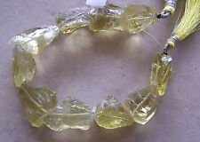 "8"" Strand Lemon Quartz Gemstone Organic Hammered Rough Nugget Beads 18mm-26mm"