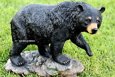 LARGE BLACK BEAR STATUE LARGE BEAR FIGURINE LARGE BLACK BEAR