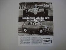 advertising Pubblicità 1983 CHAMPION , FIAT PANDA e FERRARI