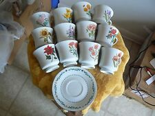 Domestications set of 12 cups and saucers (All 12 Flowers of the Month) 1 set av